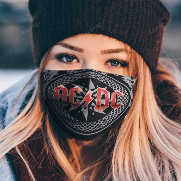 ACDC rock band anti pollution face mask - maria