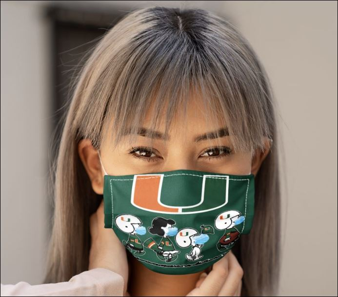Miami hurricanes snoopy and friends anti pollution face mask - maria