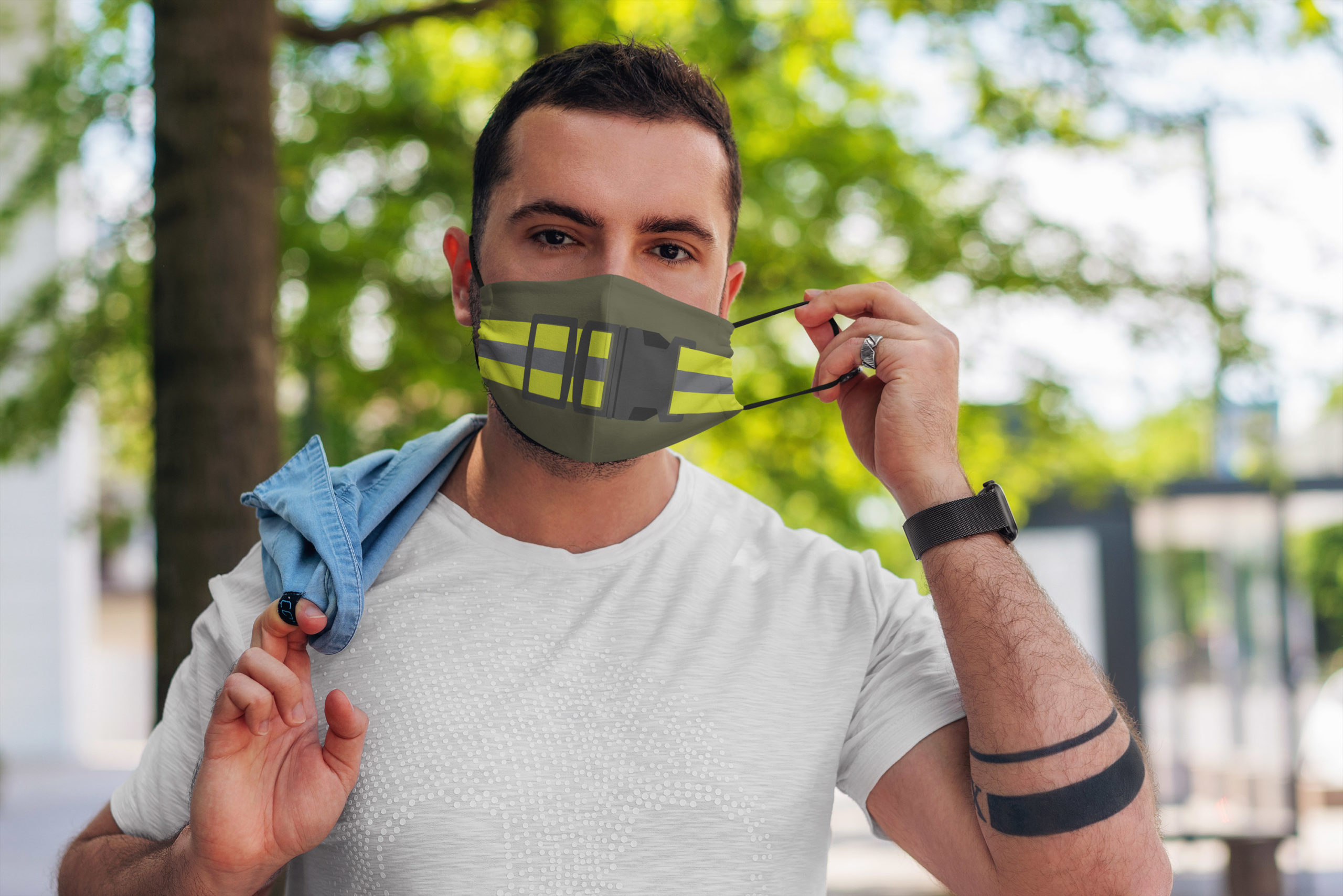 PT belt army anti pollution face mask - maria