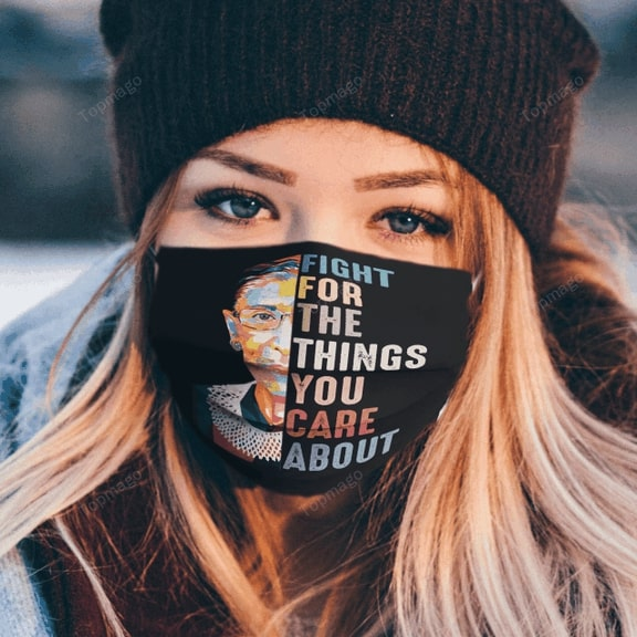 Ruth bader ginsburg fight for the things you care about anti pollution face mask - maria
