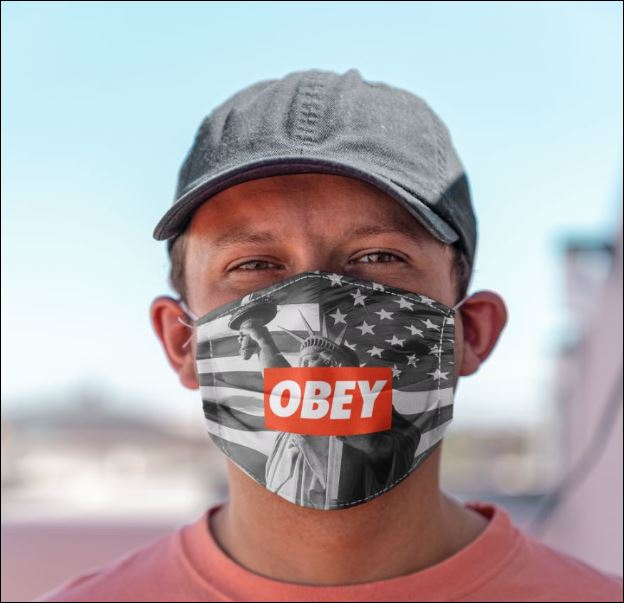 Statue of liberty obey anti pollution face mask - maria