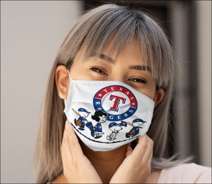 Texas rangers snoopy and friends anti pollution face mask - maria