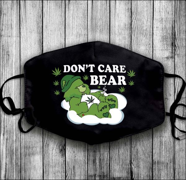Weed don't care bear anti pollution face mask - maria