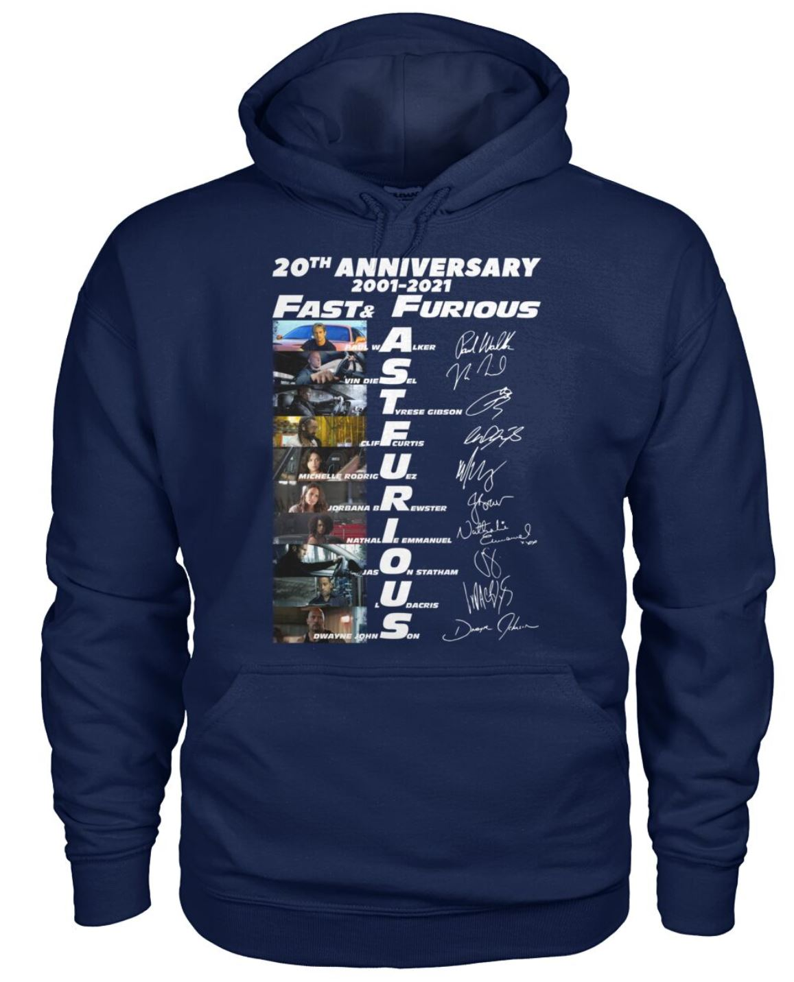 20th anniversary fast and furious hoodie