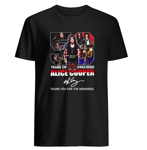 58 years of 1962-2020 Alice Cooper t-shirt