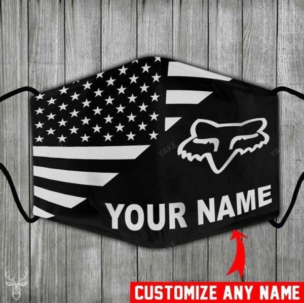American flag fox racing customize name face mask