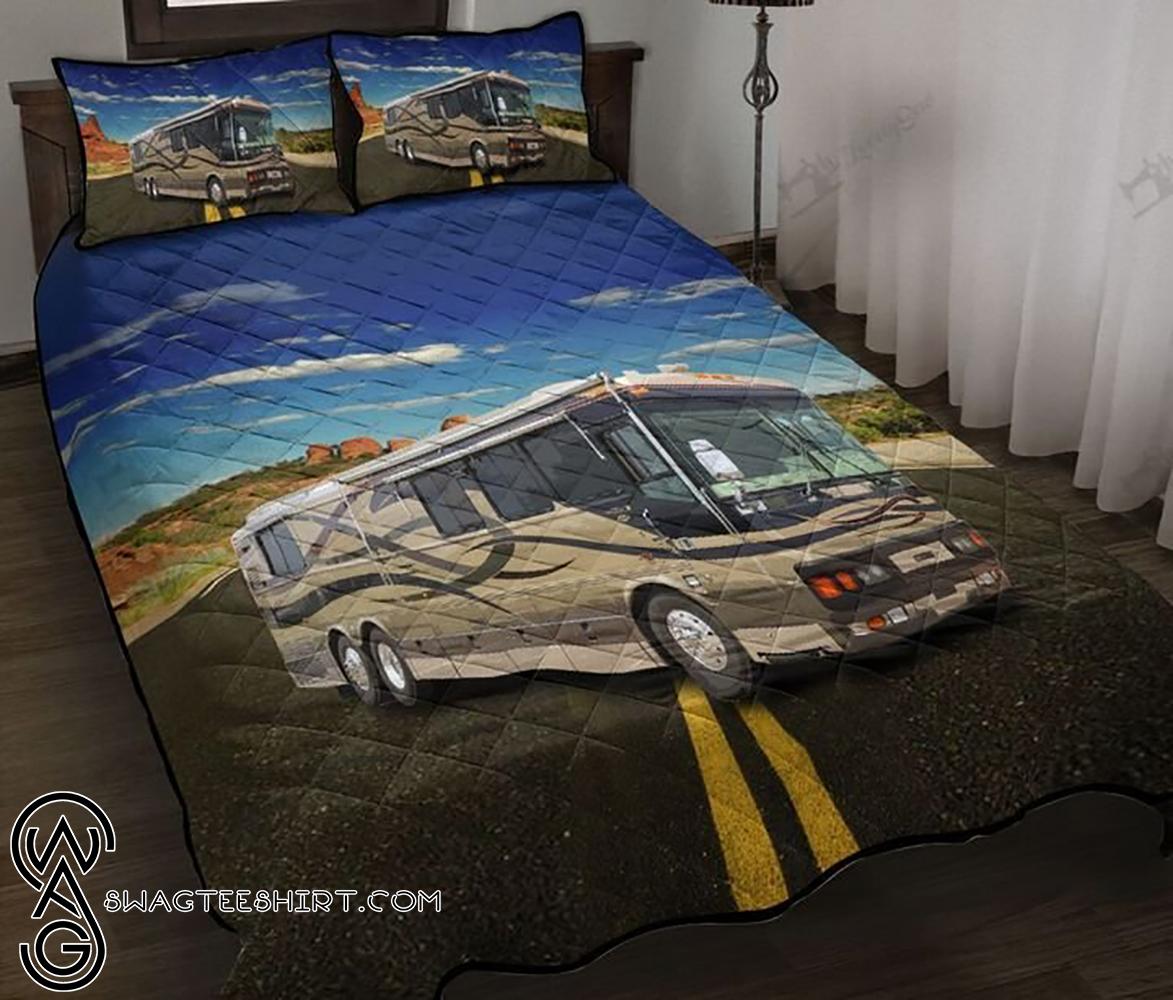 Camping rv camp life full printing quilt - Maria
