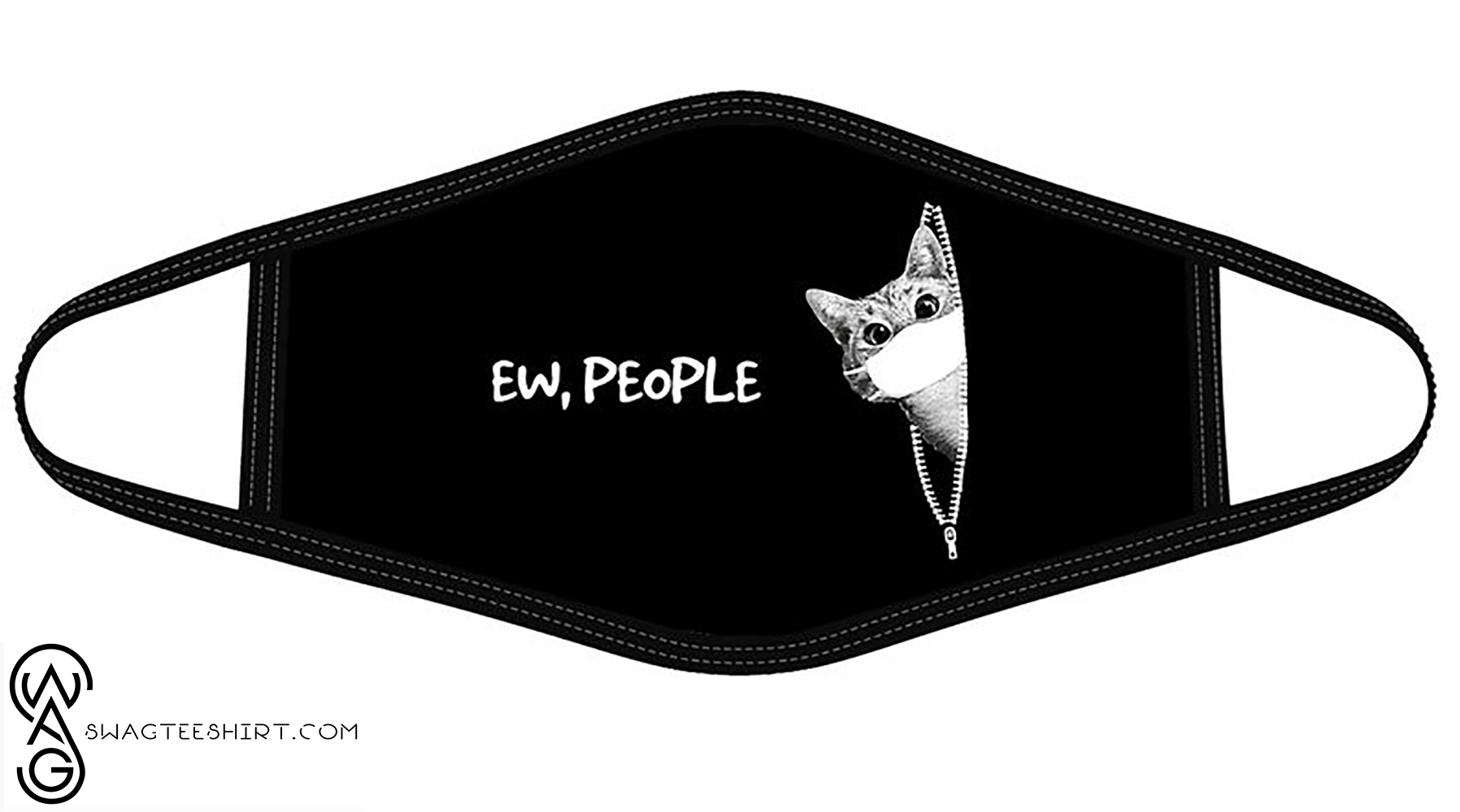 Cat with mask ew people face mask - maria