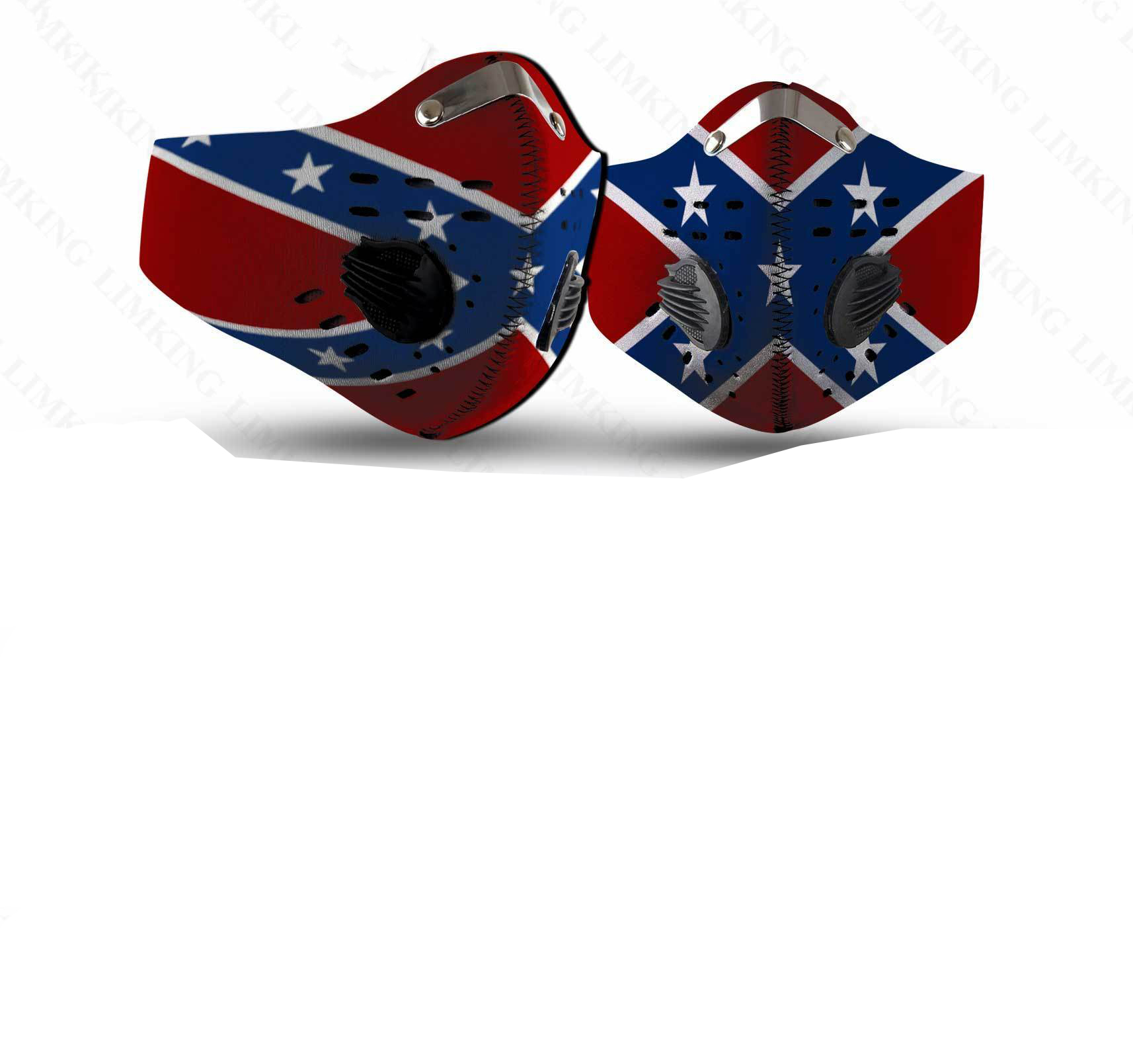 Confederate flag filter face mask
