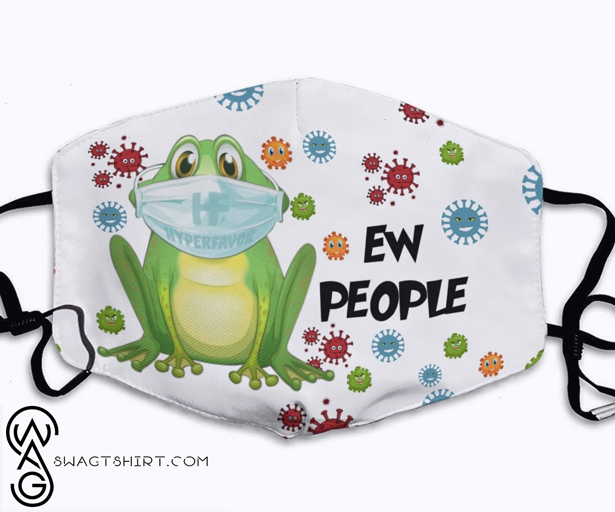 Crazy frog ew people full printing face mask - maria