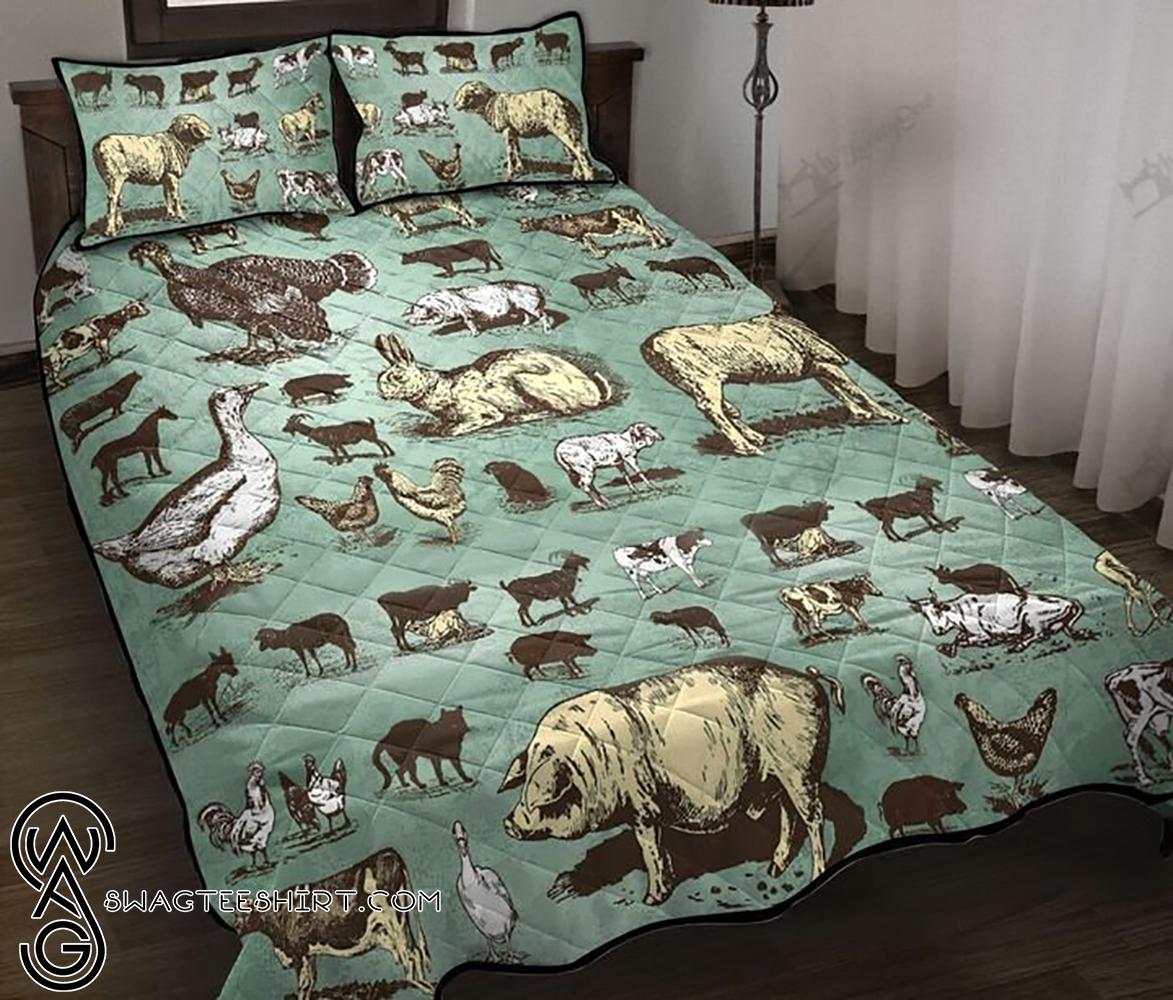 Farm animals full printing quilt - Maria
