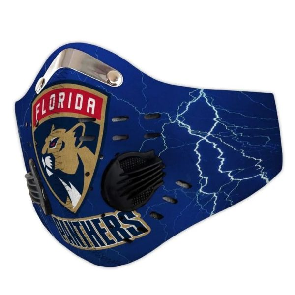 Florida panthers filter face mask