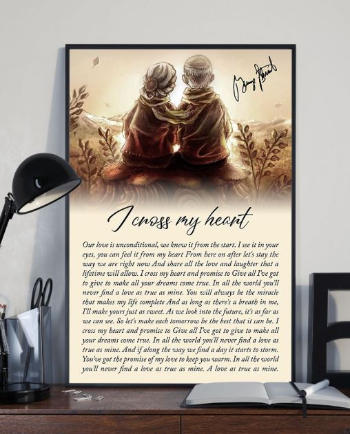 i cross my heart my love is unconditional poster 2