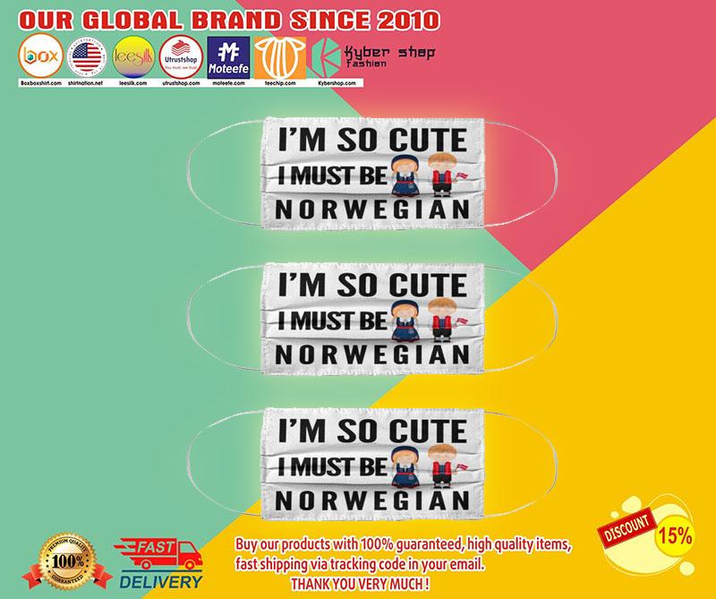 I'm so cute i must be norwegian face mask1