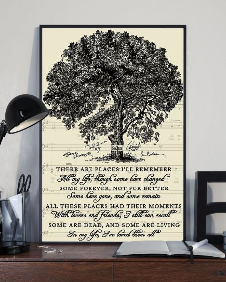 In my life There are places I will remember poster