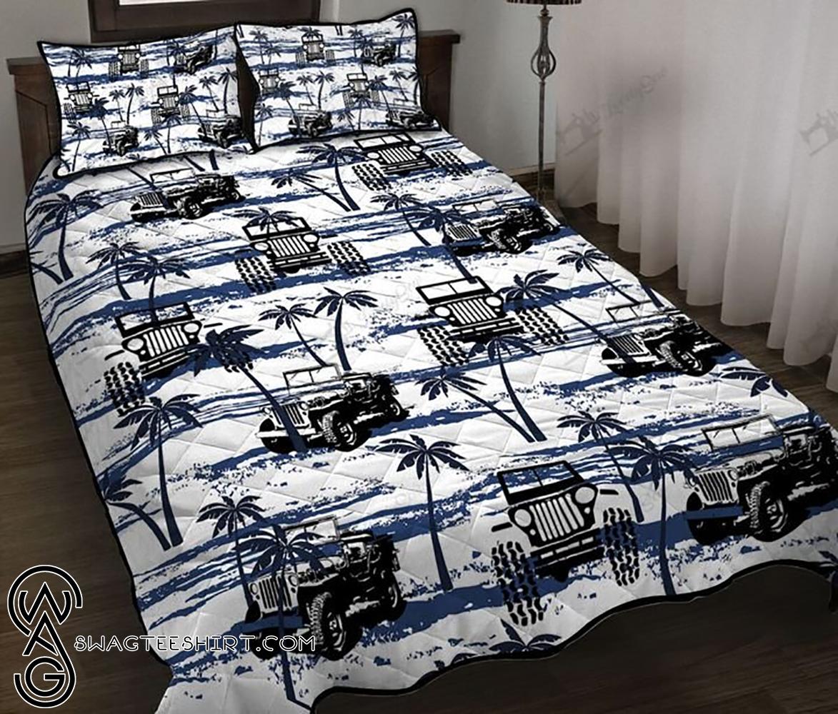 Jeep hawaiian full printing quilt - Maria