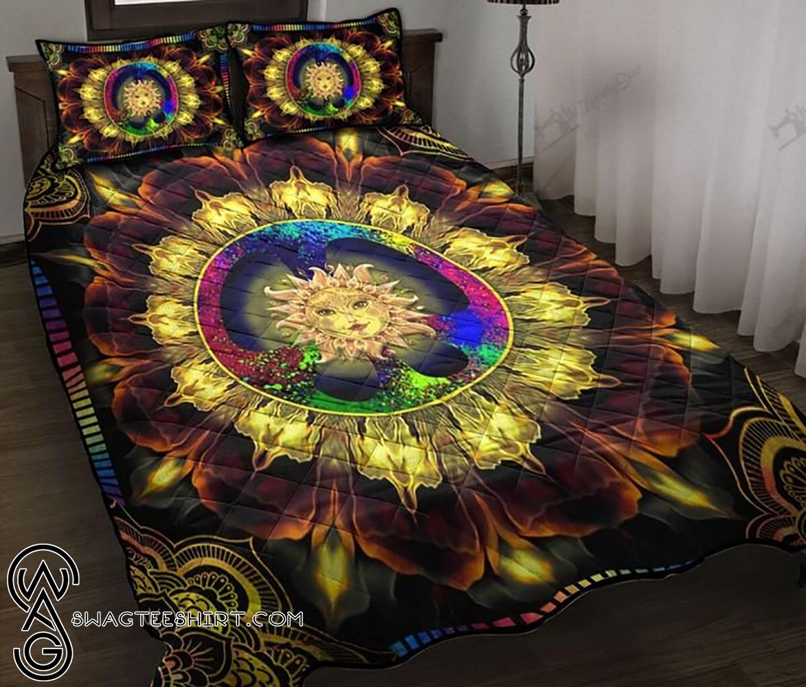 Mandala hippie sun full printing quilt - Maria
