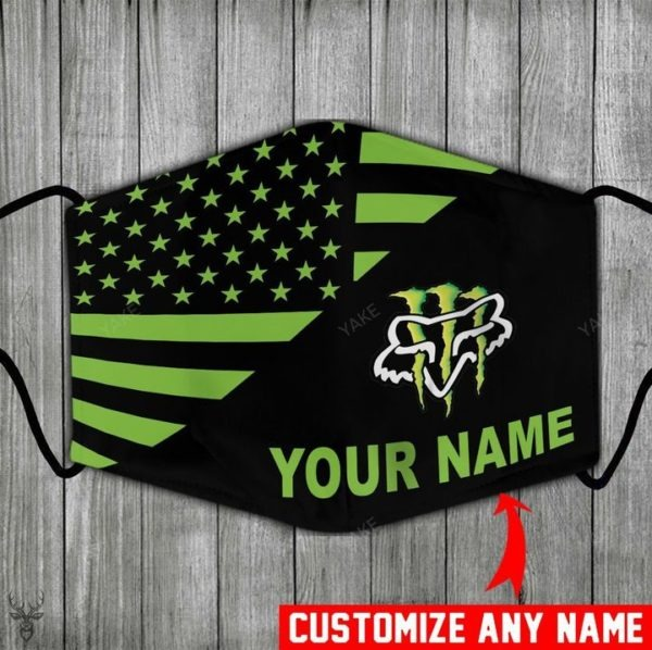 Monster energy fox racing custom name personalize face mask