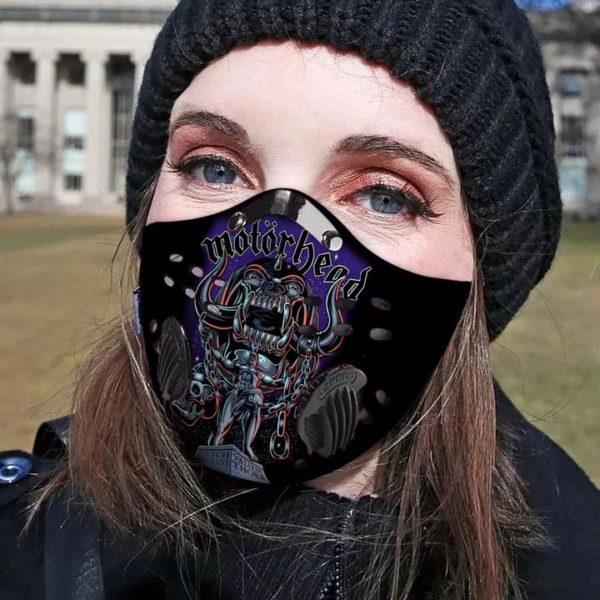 Motorhead band filter face mask