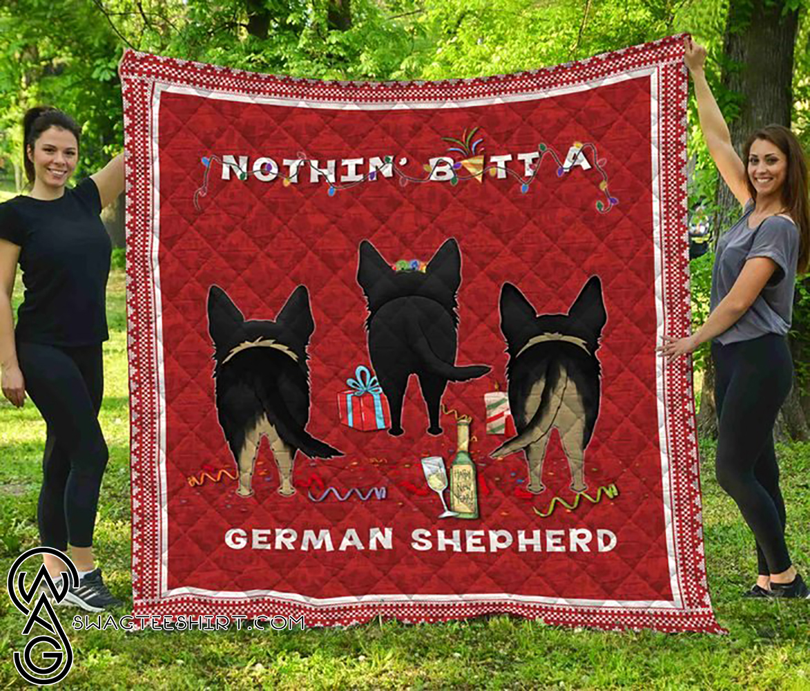 Nothin' butt a german shepherd christmas quilt - Maria