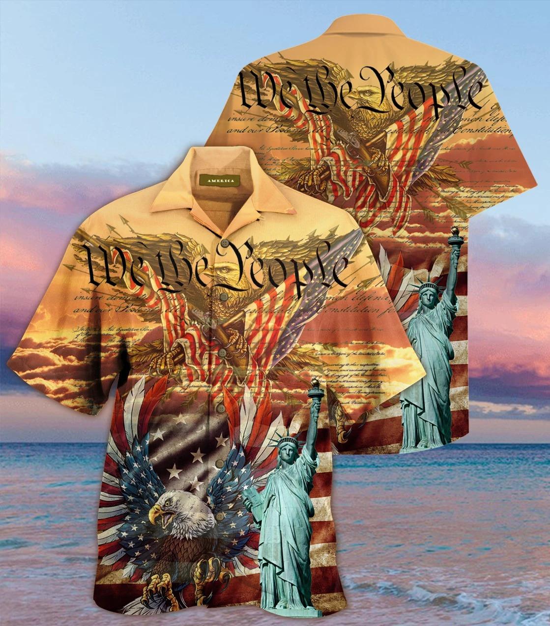 Patriotism american eagle we the people hawaiian shirt - Hothot 040920