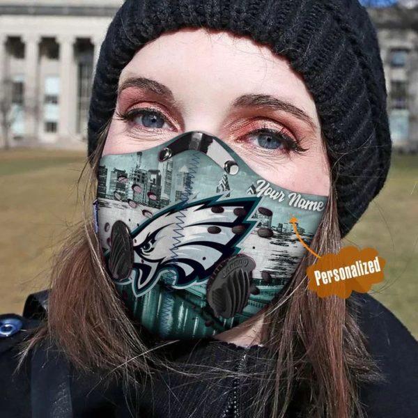 Philadelphia eagles personalized custom name filter face mask