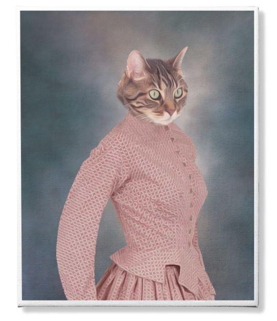 Photo Canvas Custom Cat 3 and Pet Custom 2