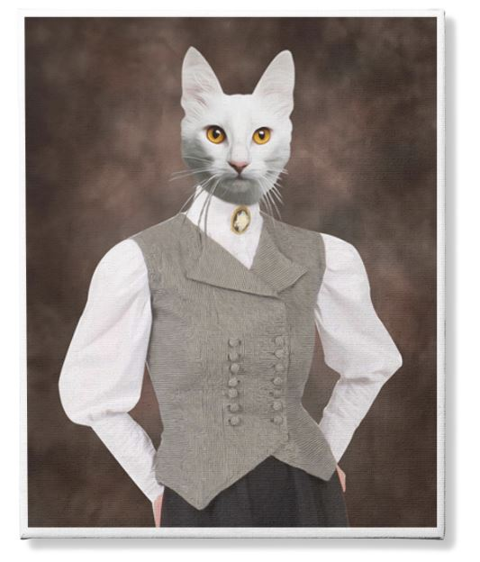Photo Canvas Custom Cat 3 and Pet