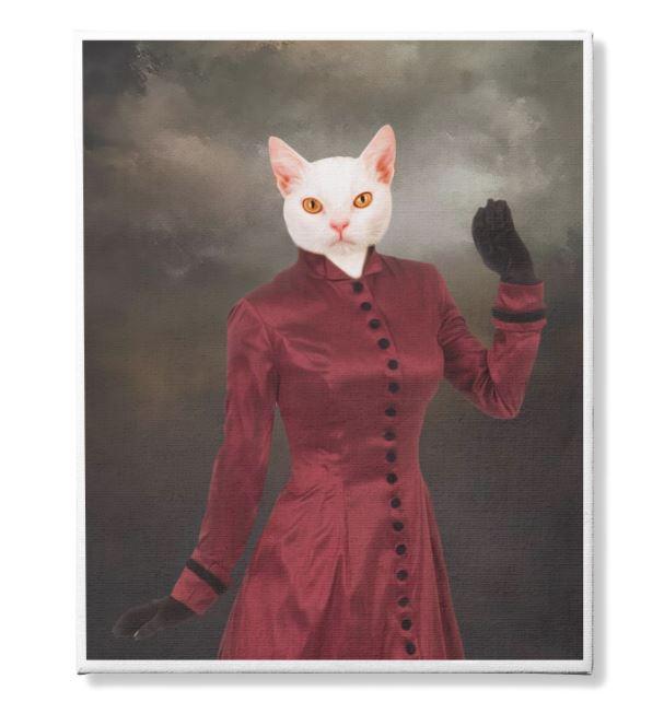 Photo Canvas Custom Cat 4 and Pet