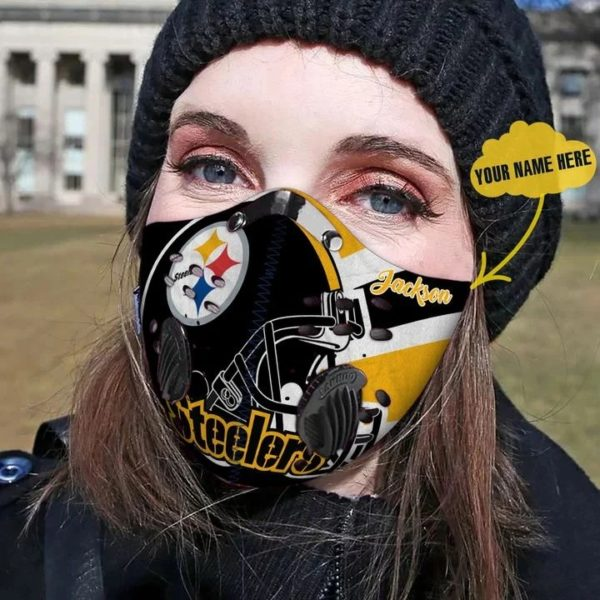 Pittsburgh steelers personalized custom name filter face mask