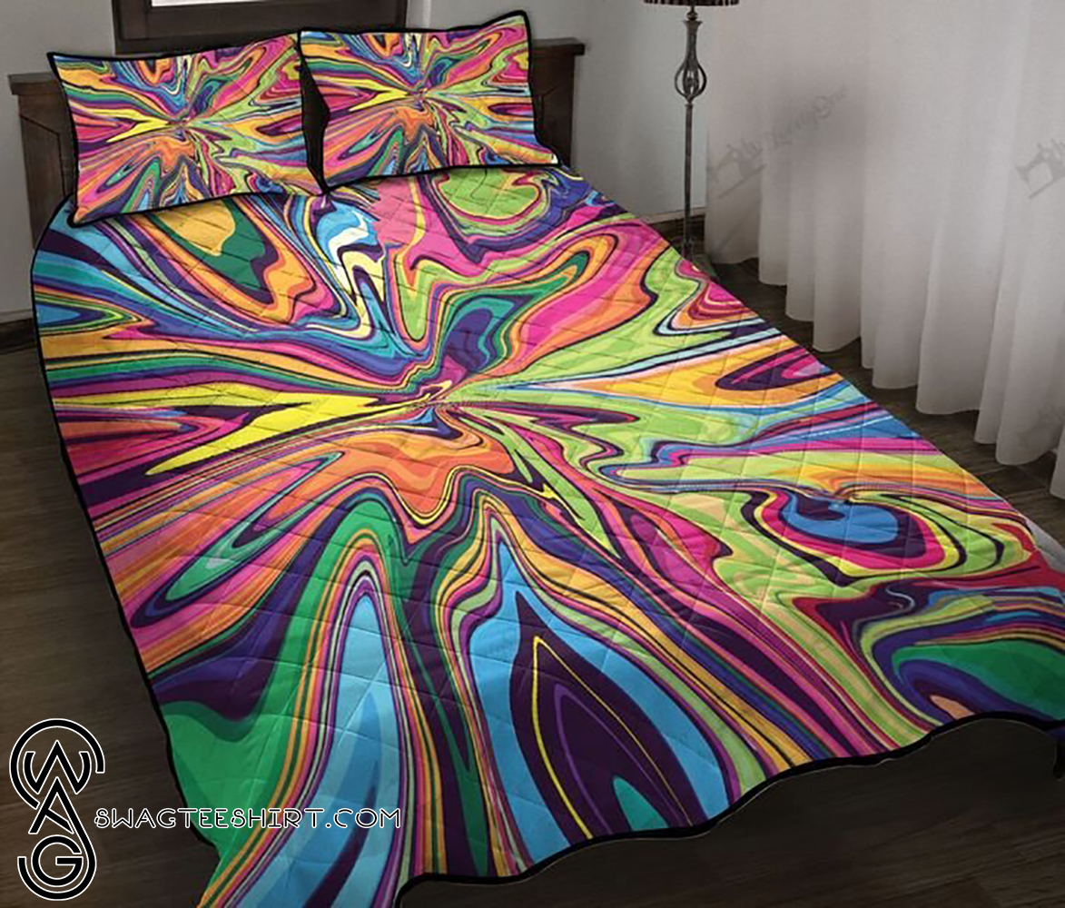 Psychedelic tie dye full printing quilt - Maria