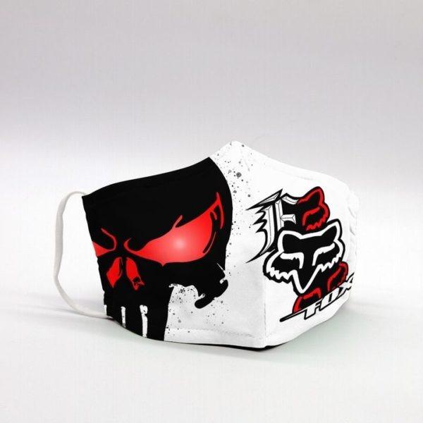 Punisher skull fox racing face mask