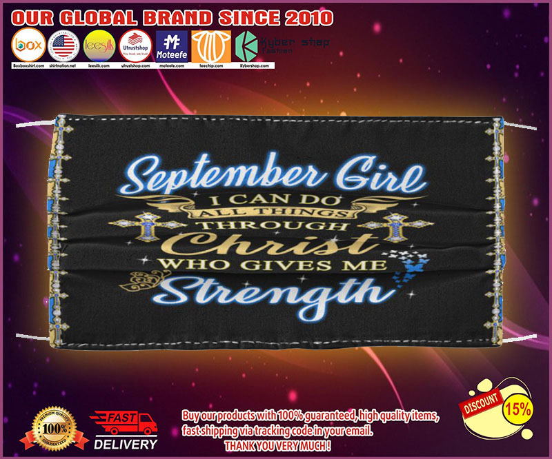 September girl I can do all through christ who gives me strength poster - LIMITED EDITION