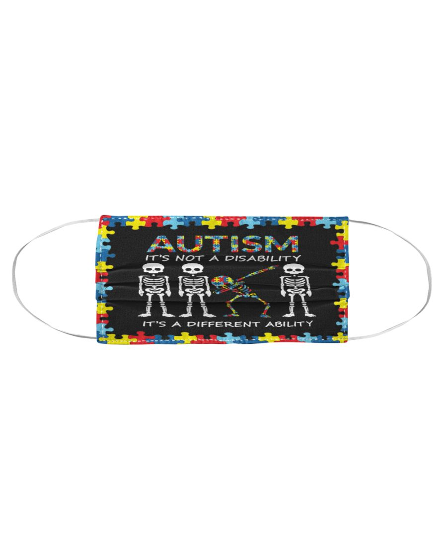 Skeleton skull Autism it's not a disability it's a different ability face mask 1