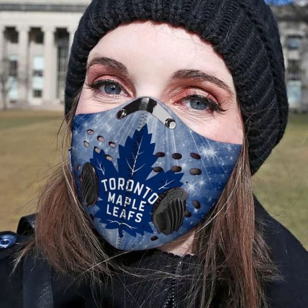 Toronto maple leafs filter face mask 1