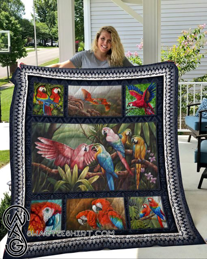 Tropical parrot full printing quilt - Maria