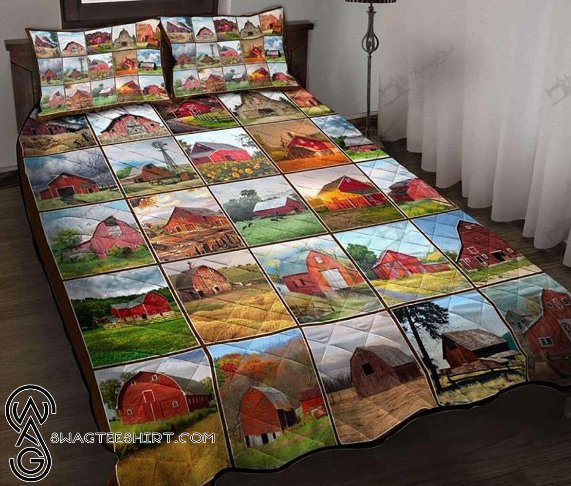 Vintage farmhouse full printing quilt - Maria