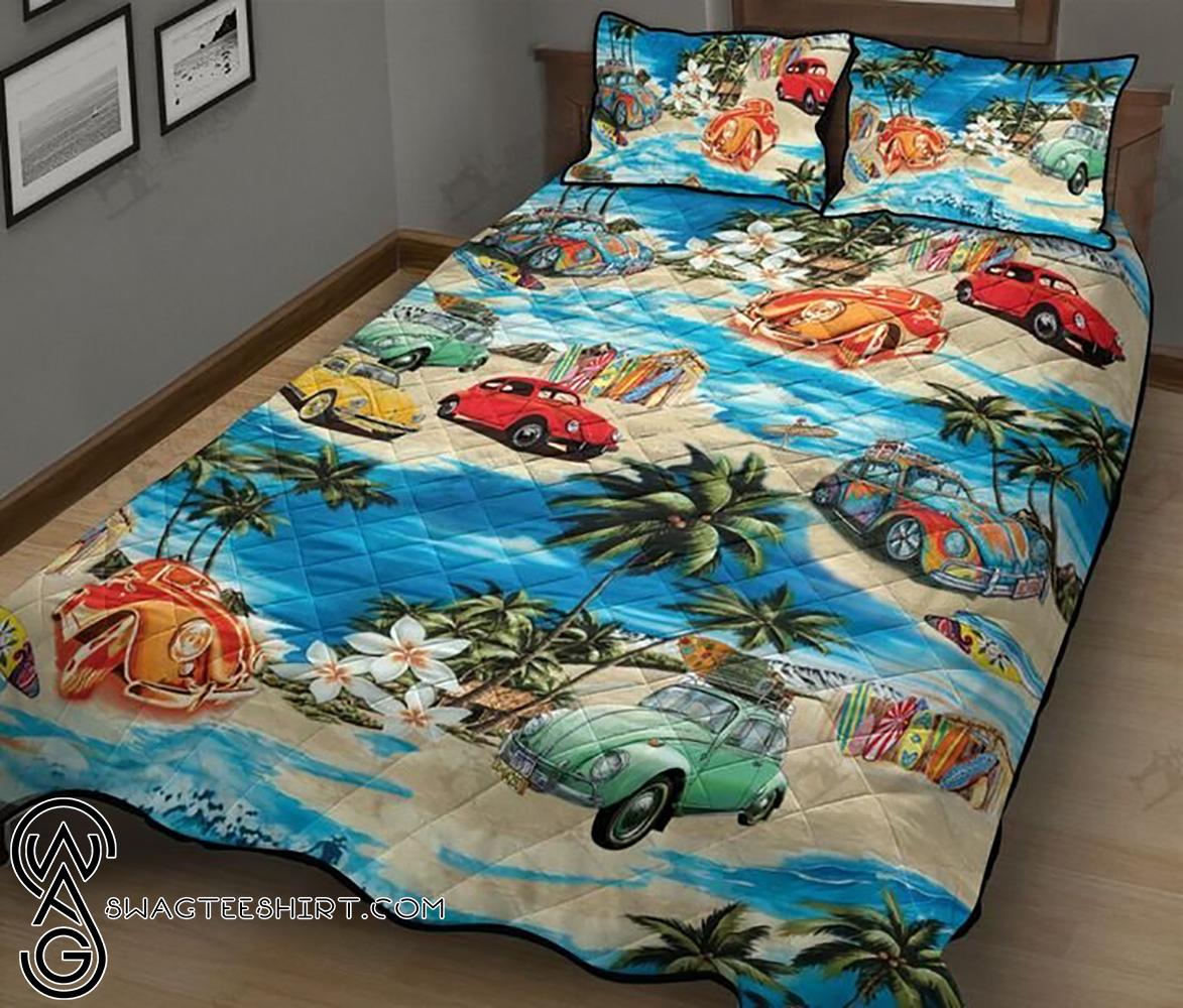 Volkswagen beetle hawaiian beach full printing quilt - Maria