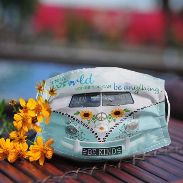 Volkswagen in a world where you can be anything be kind anti pollution face mask - maria