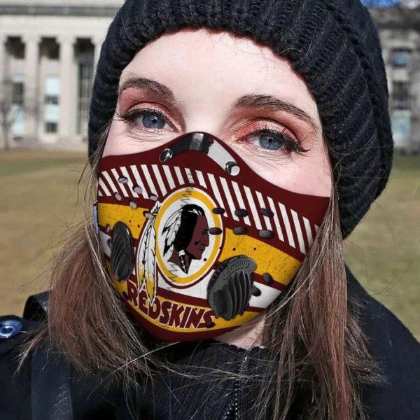 Washington redskins filter face mask