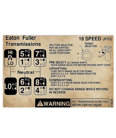 Eaton Fuller transmission poster