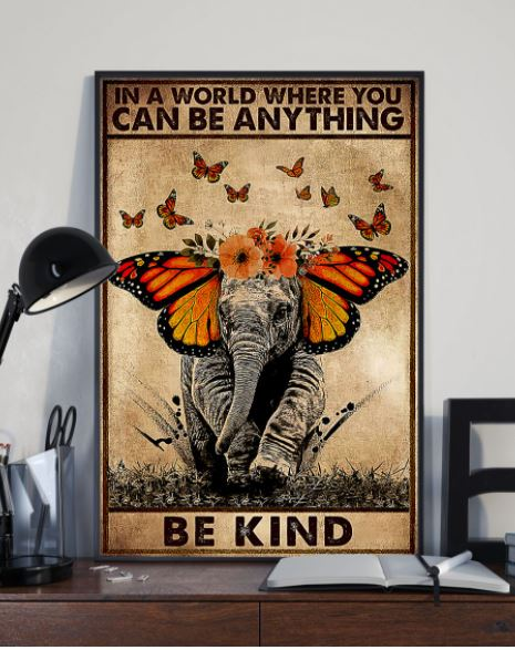 Elephant anything be kind poster 2