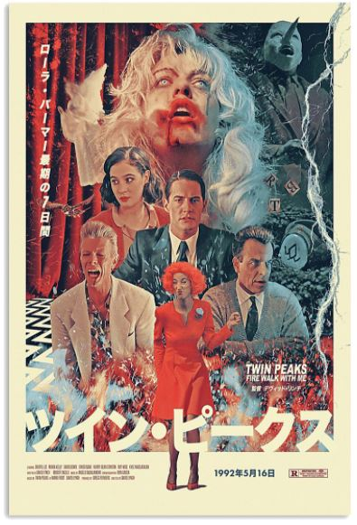 Twin Peaks fire walk with me Japanese poster