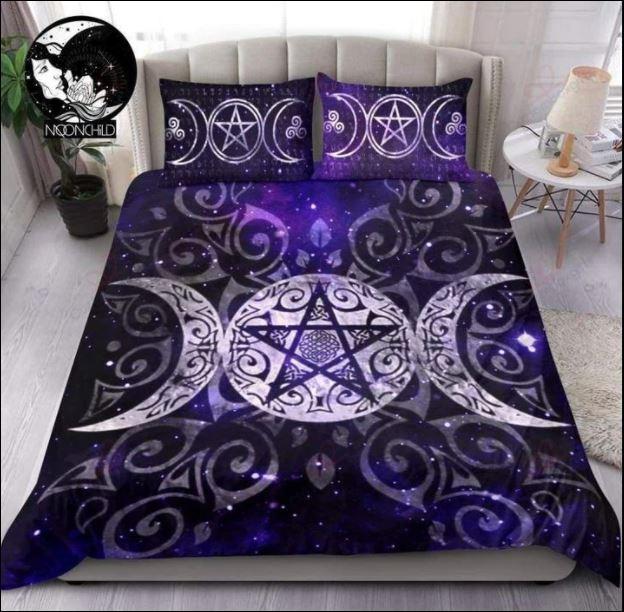 Wicca triple moon 3D quilt