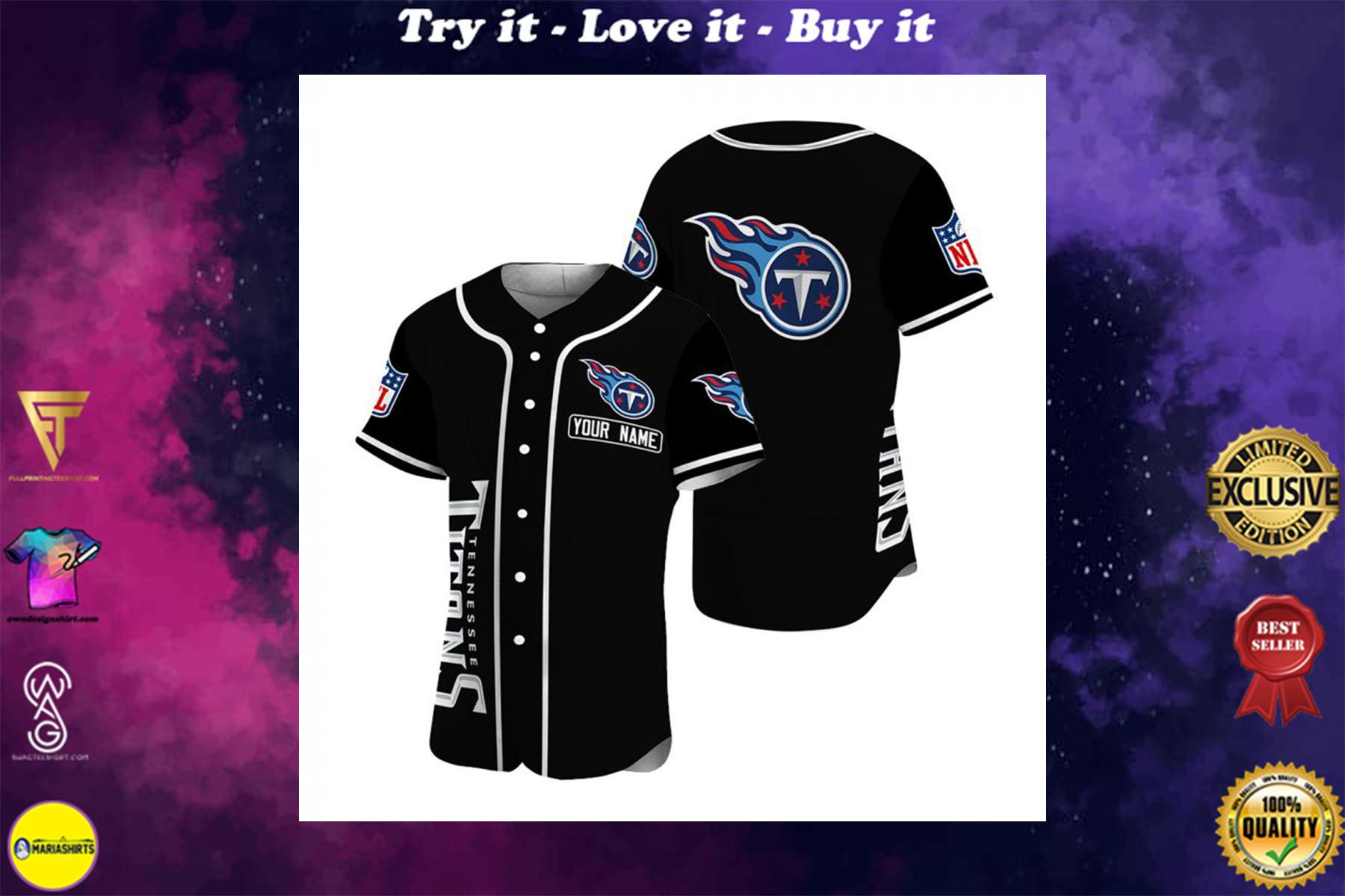 custom name tennessee titans baseball shirt - maria