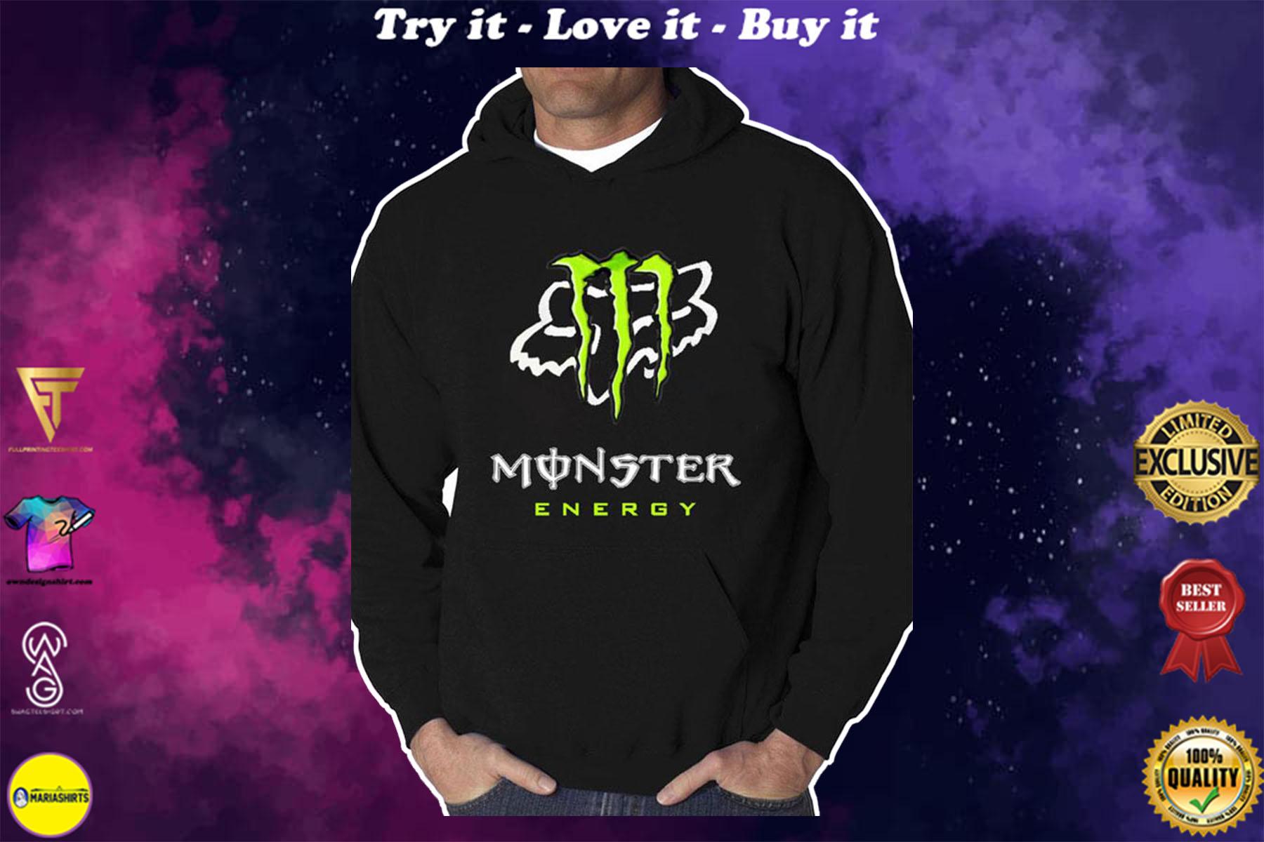 [highest selling] monster energy fox racing team motocross full printing shirt - maria