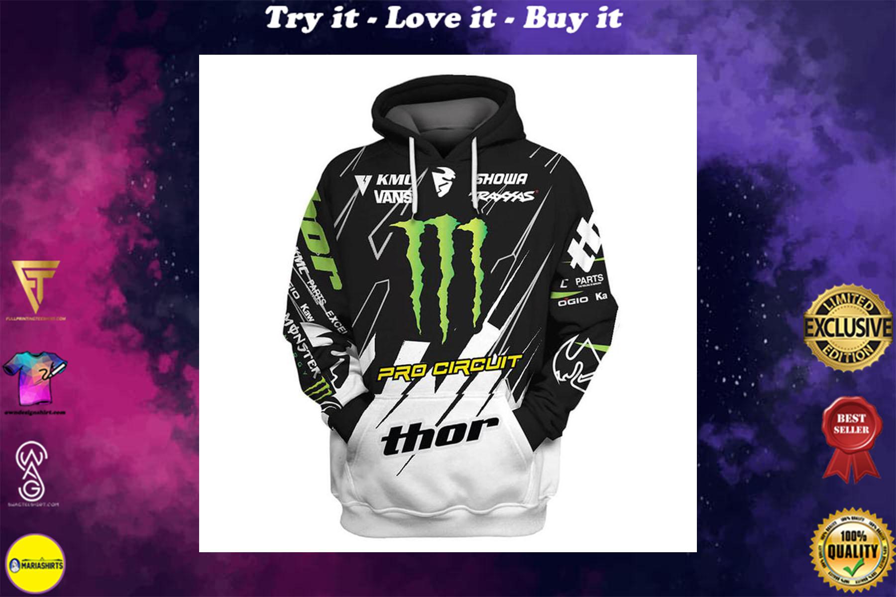 [ highest selling] monster energy pro circuit racing full printing shirt - maria