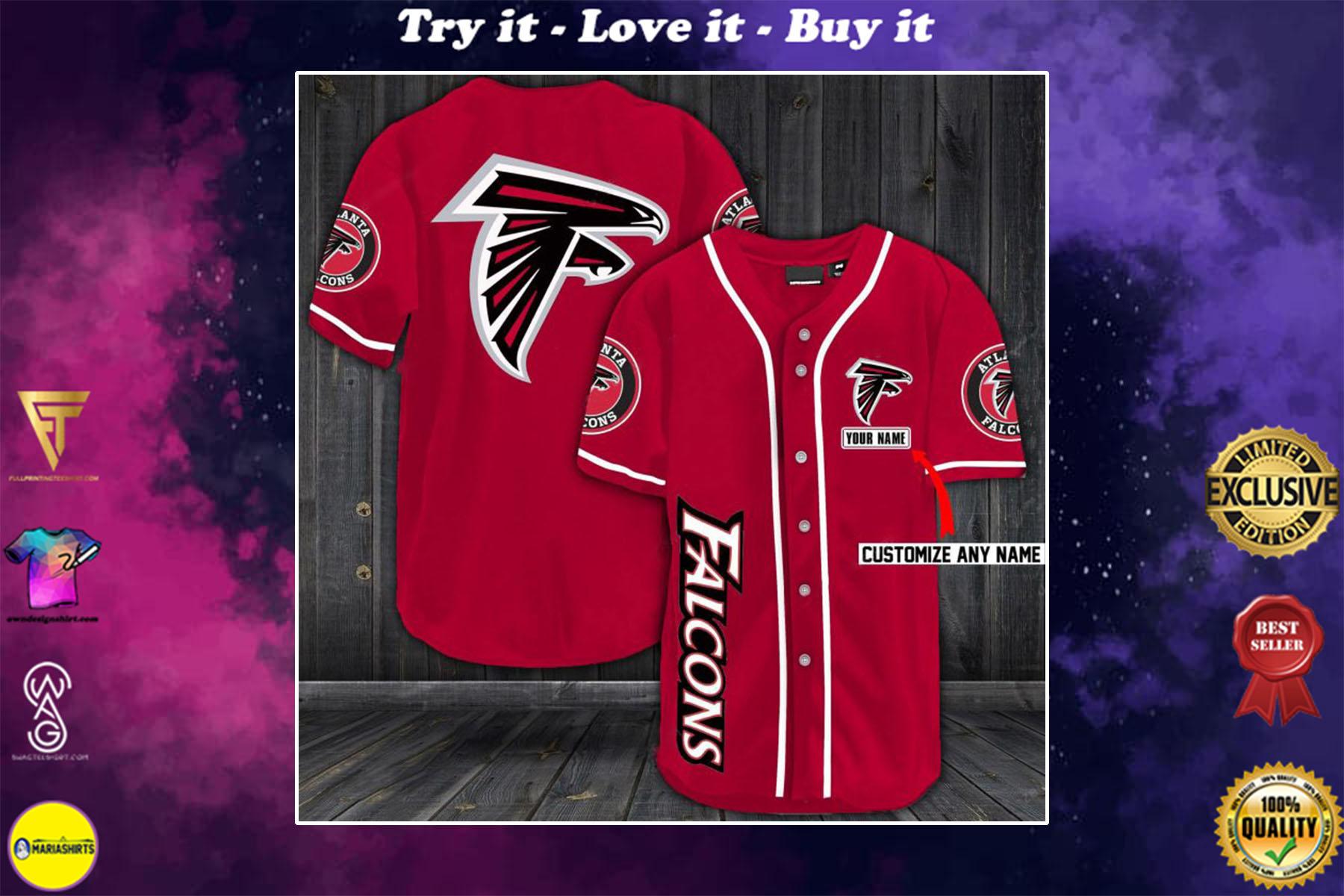 personalized name atlanta falcons baseball shirt - maria