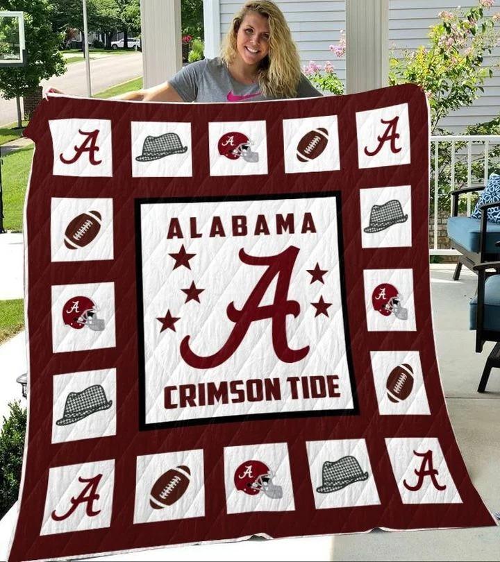 Alabama crimson tide quilt blanket king