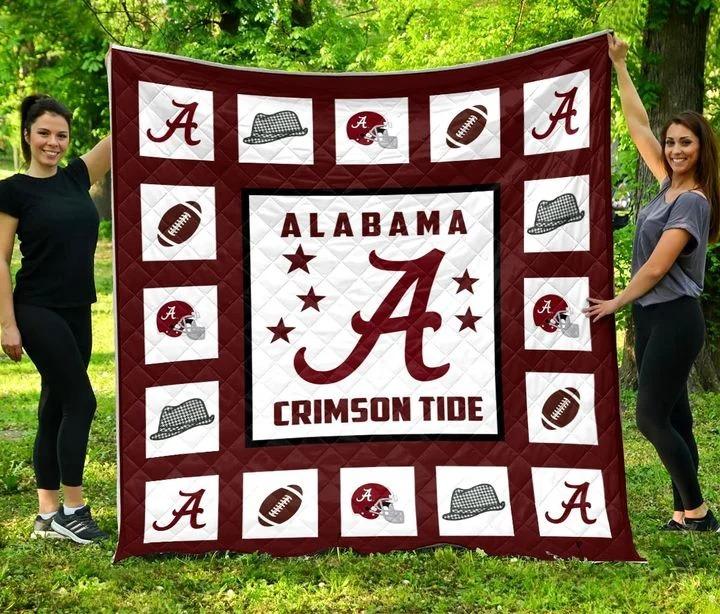 Alabama crimson tide quilt blanket queen